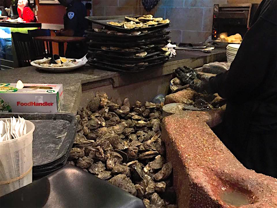 Shucking station at Drago's, Metairie, LA